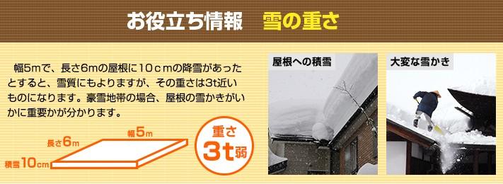 屋根の雪かきの重要性