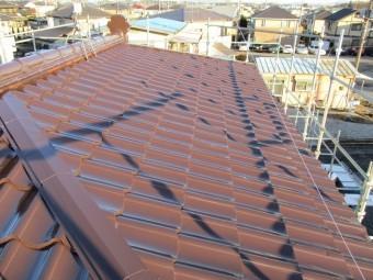 板金瓦屋根の塗装工事施工前