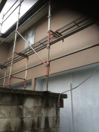 2階部分中塗り完了です