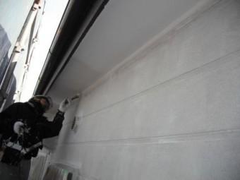 アパート外壁、軒天塗装