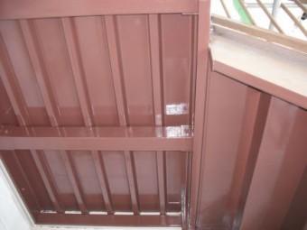 アパート階段、塗装後