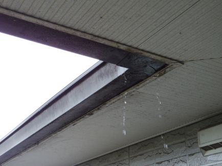雨樋、雨漏り