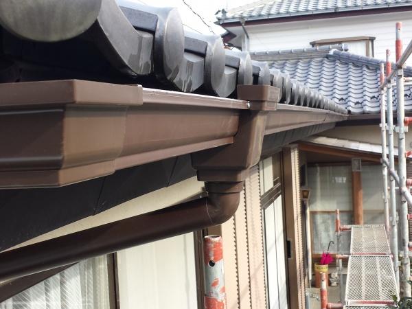 芳賀町でパナソニック製シビルスケアPC50で雨樋交換しました