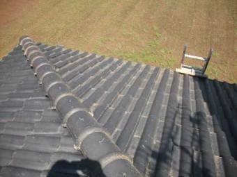 屋根塗装の高圧洗浄後です
