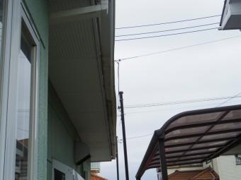 真岡市K様、東面1階部分軒樋