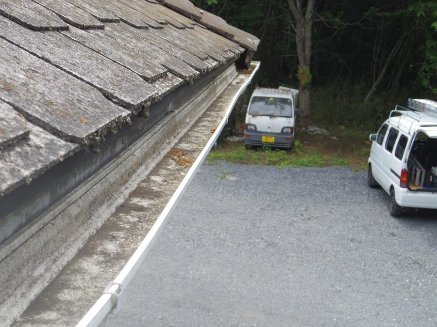 益子町S様、西面1階部分軒樋