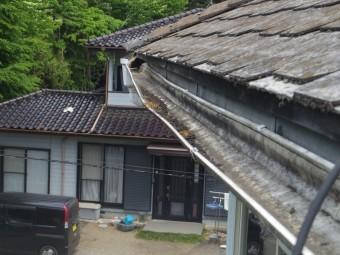 益子町S様、西面2階部分軒樋