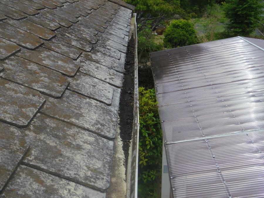 益子町S様東面1階部分軒樋