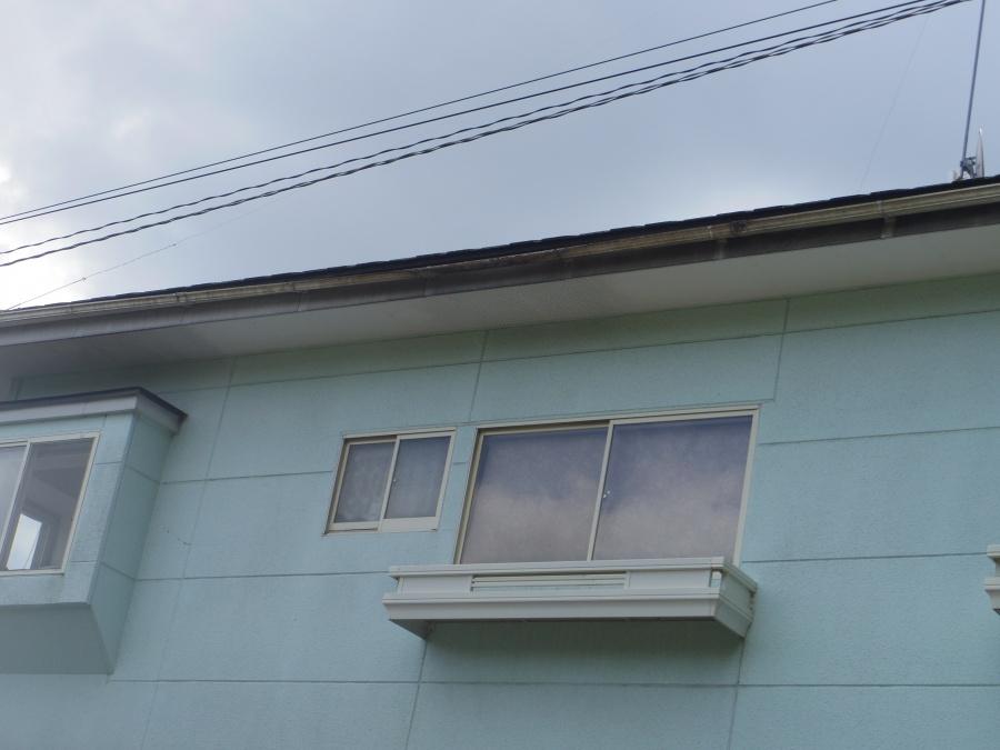 益子町S様北面2階部分軒樋