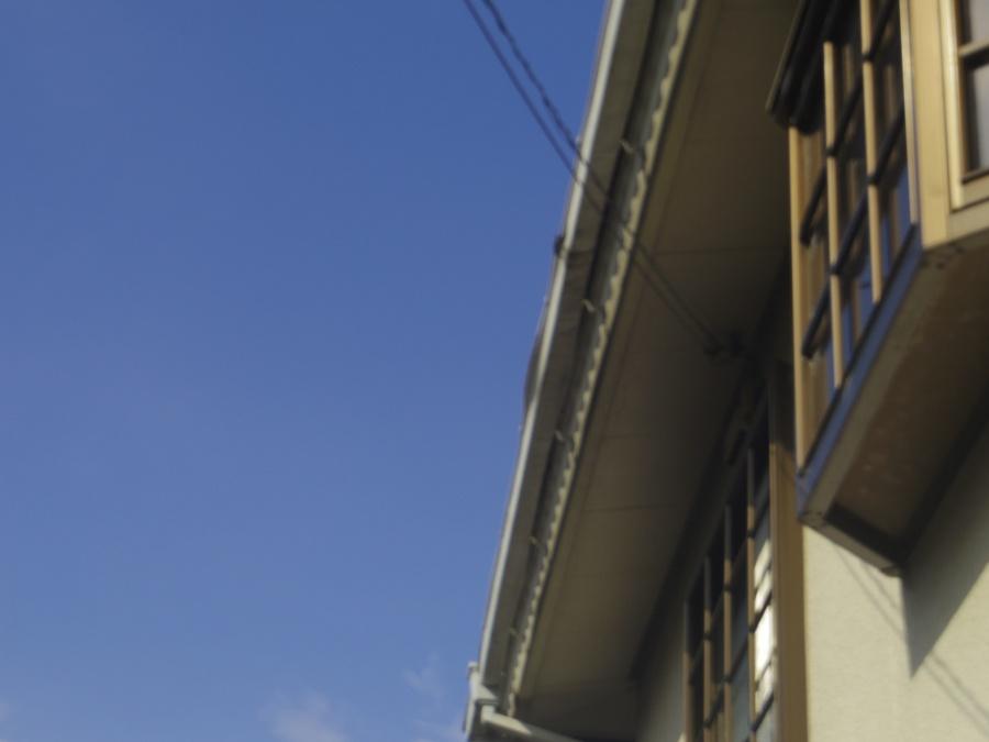 宇都宮市M様邸下から見た軒樋曲がり