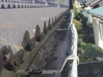 宇都宮市雨樋M様邸軒樋上から見て