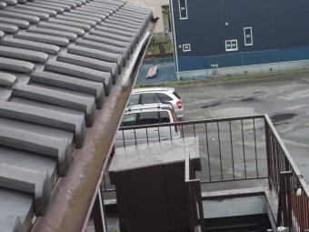 宇都宮市H様、住宅入り口、軒樋