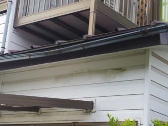日光市F様邸軒樋からテラスに雨漏り