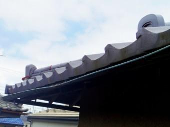 宇都宮市、銅板雨樋、大屋根の軒樋