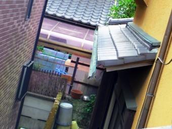 宇都宮市、銅板雨樋、下屋根の軒樋