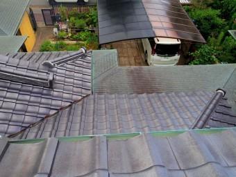 宇都宮市、銅板雨樋、全体的に破損