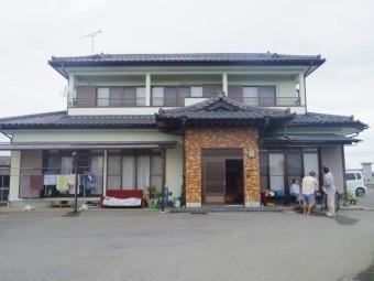芳賀町O様邸、雨樋現調