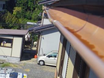 芳賀町、大屋根、南面の軒樋