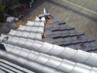 南西下り棟の破損箇所です
