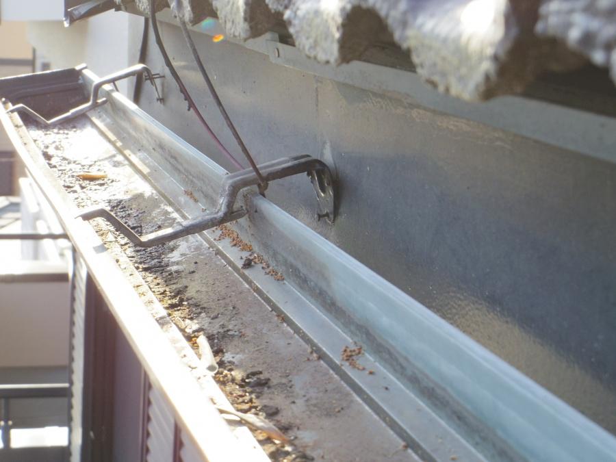 軒樋金具の破損箇所です