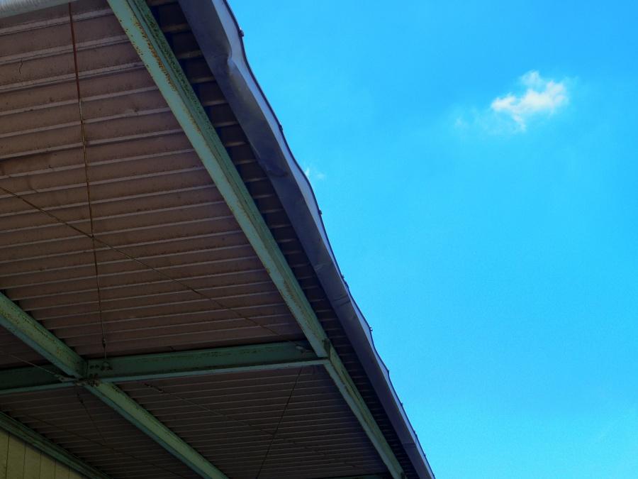 鹿沼市A様工場1階部分軒樋