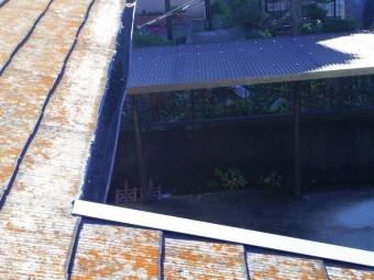 宇都宮市S様、玄関上軒樋、上から
