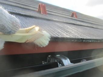軒先のプライマー刷毛塗装をしました