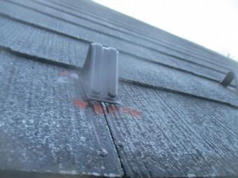 雪止めを中塗りだめ込み塗装しました