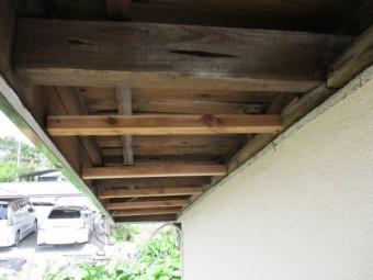 下地の垂木を交換しました