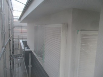2階の上塗り塗装が終了しました