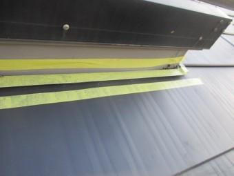 天窓のシーリング用の養生をしました