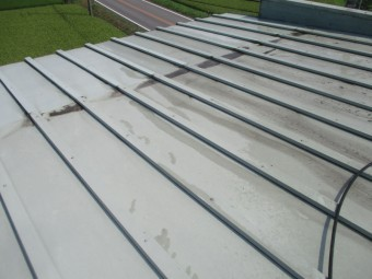 施工前の大屋根の状態です