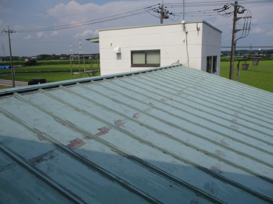 洗浄後の大屋根の状態です