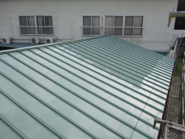 施工後の下屋根の状態です