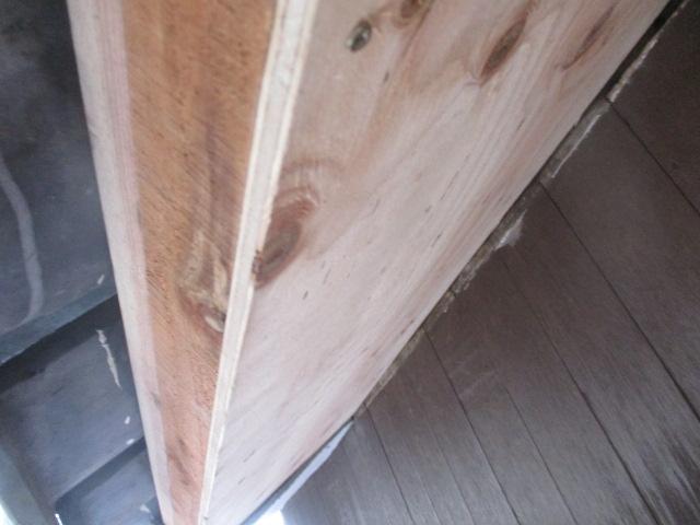 軒天に合板を貼り付けました