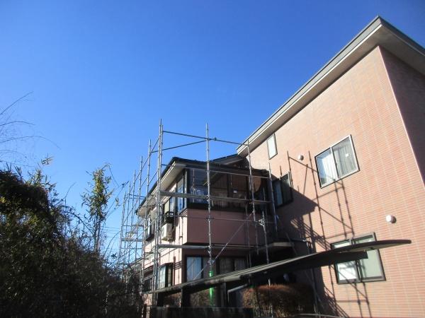 日光市の火災保険適応の雨樋工事の着工です