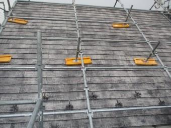 屋根の洗浄後の状態です