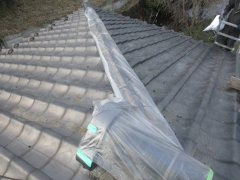 本日施工後の屋根の状態です