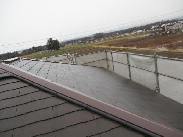 施工前の2階屋根の状態です