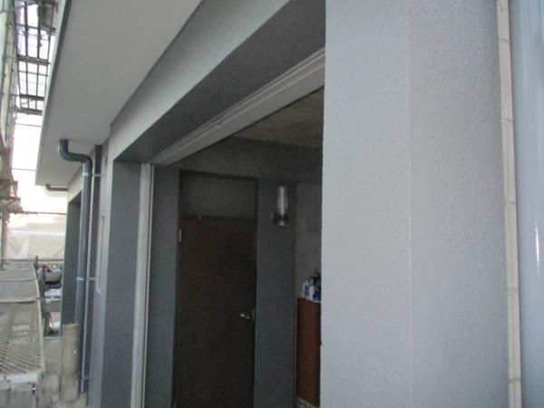 1階の外壁塗装の完工です