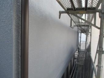 2階の外壁塗装の完工です