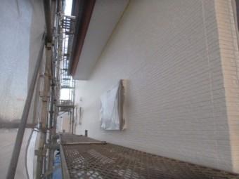 2階部分の外壁上塗りが終了しました