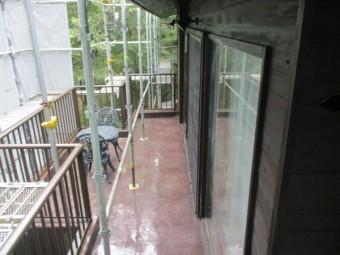 外壁の洗浄が終了しました