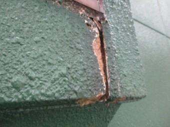 外壁の破損個所です