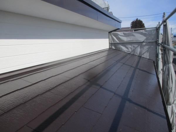1階増築部の屋根外壁破風板の完工です