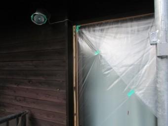 窓枠を補修しました