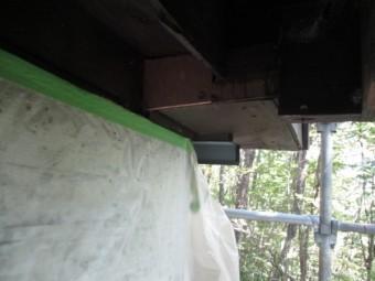 窓枠下の補修後の状態です