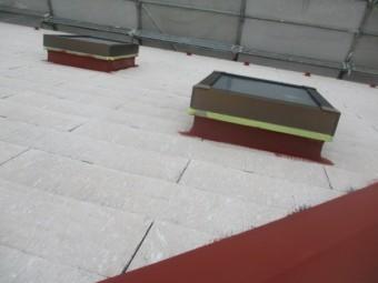 天窓の板金部分の下塗りが終了しました