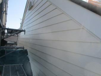 2階の外壁上塗りが終了しました