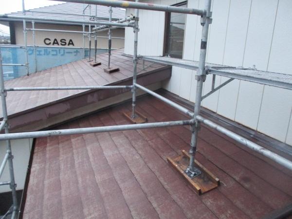 1階屋根の高圧洗浄が終了しました